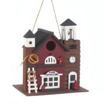 Fire Station Birdhouse (pack of 1 EA)