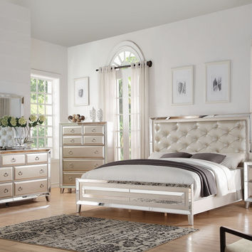 Voeville Platinum 4 Pcs Bedroom Sets