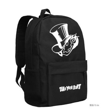 New Persona 5 Cosplay Backpack TAKE YOUR HEART Cartoon Bag Anime oxford Schoolbag