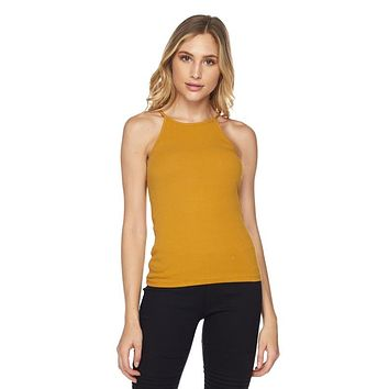 Lindsay High Neck Ribbed Tank Top
