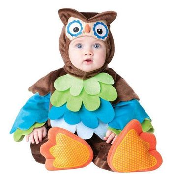 CREY6F Baby Vampire Bats Cosplay Rompers Owl Animal Fancy Costumes for Little Baby Girl Boy Birthday Party Clothes Child Fancy Wear