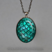 Game of Thrones Necklace, Turquoise Dragon Egg Pendant, Dragon Egg Jewelry, Dragon Egg Necklace, Dragon Jewelry, khaleesi Jewelry, Goth Gift