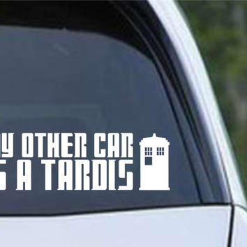 good looking doctor who tardis door decal. Doctor Who  My Other Car is a Tardis Die Cut Vinyl Decal Sticker Shop on Wanelo
