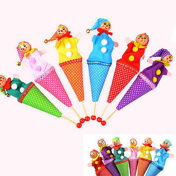 Clown Puppet Toy  Baby Educational Pop Up Telescopic Doll Styles Random HU