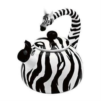 Zebra Whistling Tea Kettle