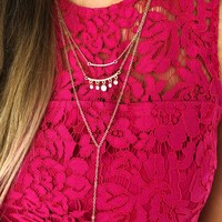 Must Be Love Necklace: Gold