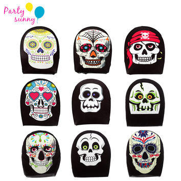 1Pcs Halloween Full Face Masks Horror Pirate Pumpkin Skull Masquerade Party Mask Headgear Net Yarn Supplies