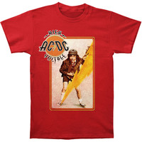 AC/DC Men's  High Voltage Angus T-shirt Red