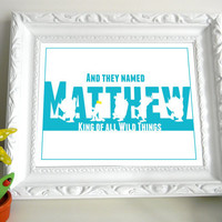 Where The Wild Things Are Customized Print 14 x 11