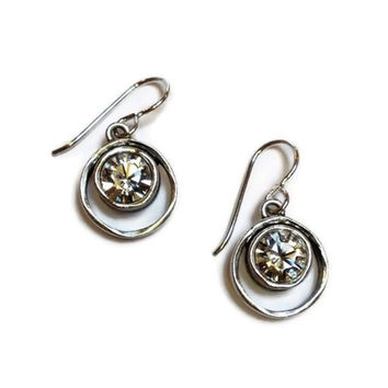 Patricia Locke Jewelry - Skeeball Earrings in Crystal