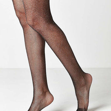 Out From Under Sparkle Fishnet Tight   Urban Outfitters