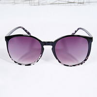 Vintage Fade Sunglasses in Black & Tortoiseshell - Urban Outfitters