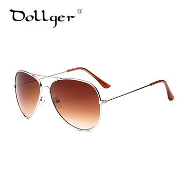 Dollger Pilot Aviator Sunglasses For Men Women brand designer Gradient Classic Style  Oculos de sol Metal Frame Sunglass s1034