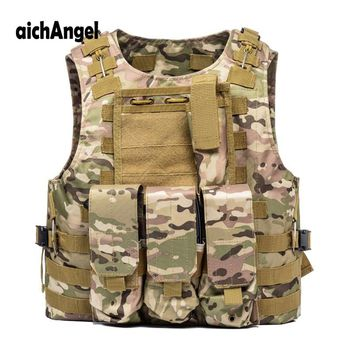 US Soldier Military Uniform Camouflage Vests Paintball Airsoft Nylon Vest Molle Army Combat Tactical Vest