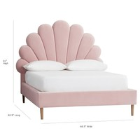 The Emily & Meritt Shell Upholstered Bed