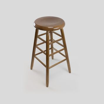 "Dixie Seating Co. Garland Wood Round 24"" High Counter Stool No. 1424 - Ships within  2 to 4 Weeks"