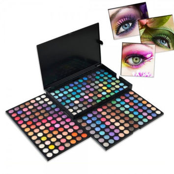 Profession 3pcs 252 Colors Easy-matching Eye Shadow Palettes Top Quality Gift + Free Shipping