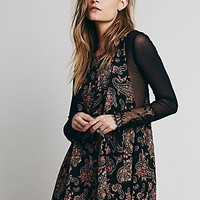 Free People Womens Folk Song Mini Dress