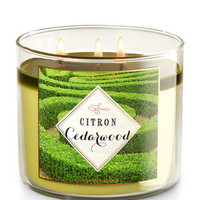 Citron Cedarwood 3-Wick Candle | Bath And Body Works