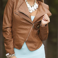 Double the Trouble Folded Blazer Jacket Brown