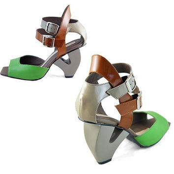 Heavy Machine Colorblock Crossover Sandal (Small/Indie Brands)