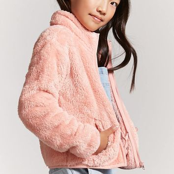 Girls Faux Fur Jacket (Kids)