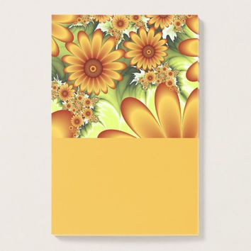 Floral Dream, Modern Abstract Flower Fractal Art Post-it Notes