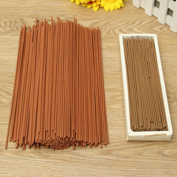 Natural Aroma Incense Sandalwood Wormwood Scent Stand Sticks Incense Home Living Room Meditation Yoga Sleep Aid Indoor Clean Air