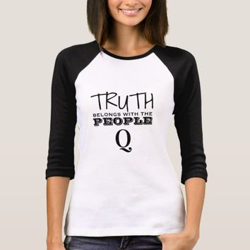 TRUTH BELONGS WITH THE PEOPLE QANON T-SHIRT