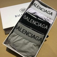 Balenciaga New fashion letter print three pieces gray white black briefs boxed three color