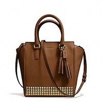 Coach :: LEGACY MINI TANNER CROSSBODY IN STUDDED LEATHER