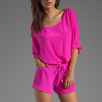 Amanda Uprichard Bailey Romper in Hot Pink from REVOLVEclothing.com