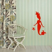 Wall Decals Vinyl Decal Sticker Art Design Beautiful Mermaid Swim Room Nice Picture Decor Hall Wall Chu407