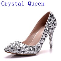 Crystal Queen Wedding Shoes high heels Crystal Shoes Bride Shoes Women's Shoes High Quality 9CM Heels