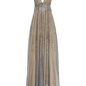 Solace Embroidered Tulle Gown