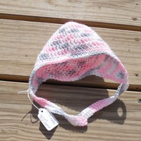 Crochet Baby Hat, Baby (0 -3 months), Baby Girl Ear Flap Hat