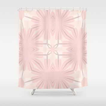 Romantic in Pink and Grey Shower Curtain by Lena Photo Art