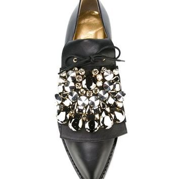 Gedebe Embellished Lace-up Shoes - Tiziana Fausti - Farfetch.com