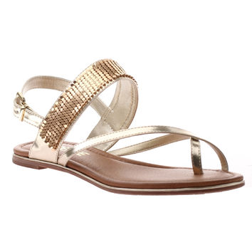 Pretty Girl Sandal by Madeline Girl - Bright Gold