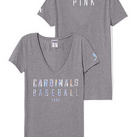 St. Louis Cardinals Fitted V-Neck Tee - PINK - Victoria's Secret