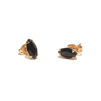 Tiny Marquis Studs Jet Black Crystal