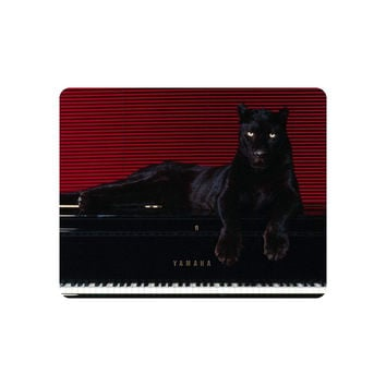 Beautiful Animal Mouse Pad Baby Black Panther on Piano