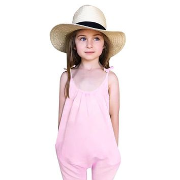 Baby Girls Kids Clothes Toddler Loose Jumpsuit Romper Outfits Tiny Toddler Trousers Cotton For Chidren