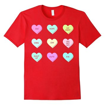 Valentine's Day Sassy Heart Candy Graphic T-Shirt