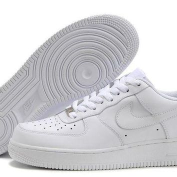 Nike Air Force 1 All White For Women Men Running Sport Casual Shoes Sneakers