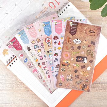 1 Sheet Kawaii Cute DIY Decorative Sticker Dairy Album Paper Notebook Craft Decor Phone Bottle Stick Label Gift 15 Kinds Choose