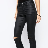 Vero Moda Busted Knee Coated Jean
