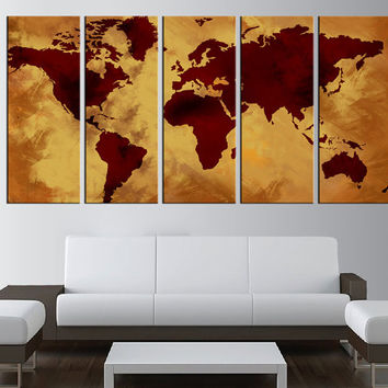 large world map canvas prints, old world map canvas wall art, Large wall Art, large canvas print, extra large wall art, sunset wall art  t7b