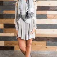 Kellen Basic Dress (Heather Grey)