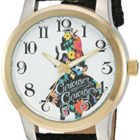 Disney Women's 'Alice in Wonderland' Quartz Metal Automatic Watch, Color:Black (Model: W002901)